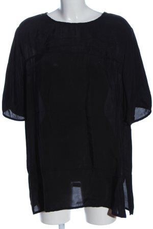 American Vintage Bluzka z krótkim rękawem czarny W stylu casual