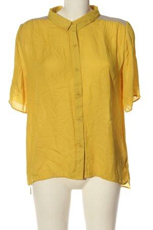 American Vintage Camicia a maniche corte giallo pallido-grigio chiaro