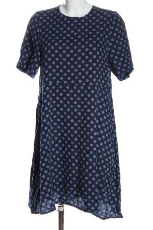 American Vintage Robe à manches courtes bleu motif de tache style décontracté