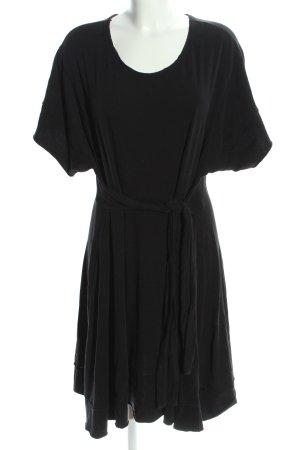 American Vintage Sukienka z krótkim rękawem czarny W stylu casual