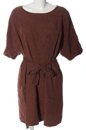 American Vintage Robe à manches courtes rouge style décontracté