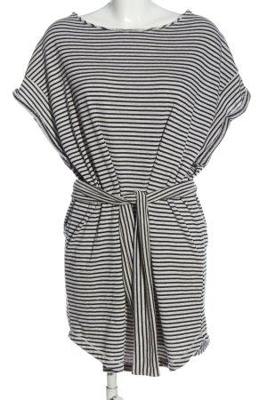 American Vintage Sukienka o kroju koszulki biały-czarny Wzór w paski