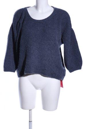 American Vintage Sweater met korte mouwen blauw casual uitstraling