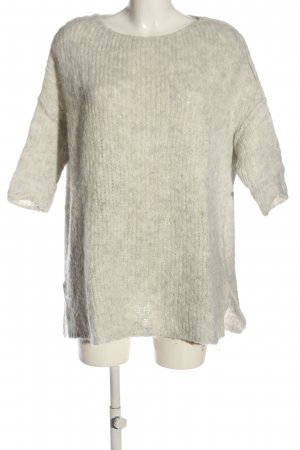 American Vintage Sweater met korte mouwen wit kabel steek casual uitstraling