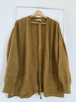 American Vintage Cardigan tricotés brun sable-ocre