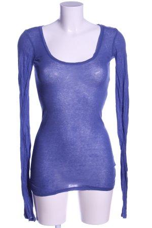 American Vintage Langarm-Bluse blau Casual-Look