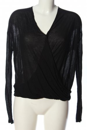 American Vintage Long Sleeve Blouse black flecked casual look