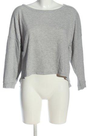 American Vintage Bluzka z długim rękawem jasnoszary Melanżowy W stylu casual