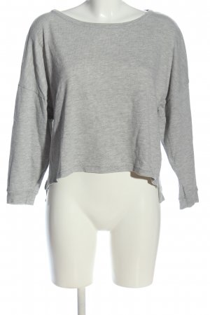 American Vintage Long Sleeve Blouse light grey flecked casual look