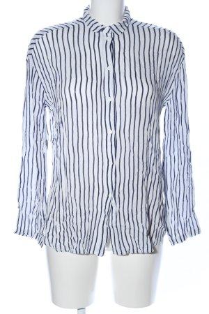 American Vintage Camicia a maniche lunghe bianco-blu motivo a righe