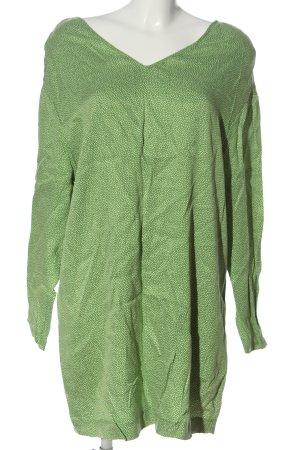 American Vintage Longsleeve Dress green-white spot pattern casual look