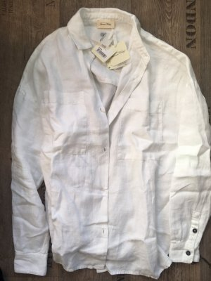 American Vintage Linen Blouse white