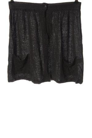 American Vintage Linnen rok zwart gestippeld casual uitstraling