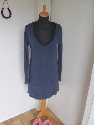 American Vintage Lang shirt blauw-donkerblauw Gemengd weefsel