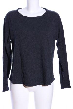 American Vintage Koszulka z długim rękawem jasnoszary Melanżowy