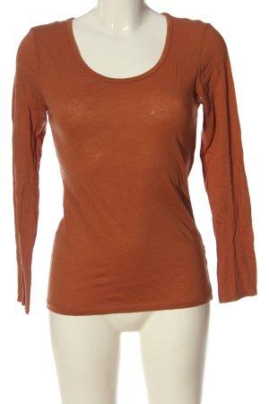 American Vintage Manica lunga arancione chiaro stile casual
