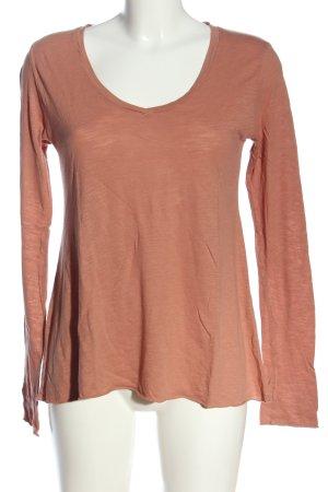 American Vintage Koszulka z długim rękawem nude Melanżowy W stylu casual