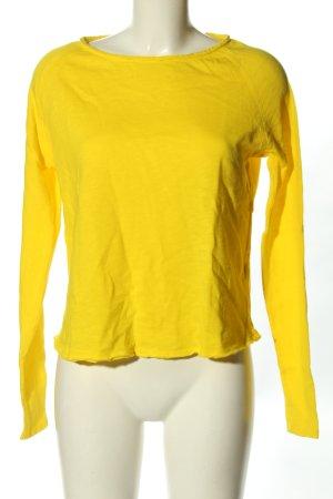 American Vintage Koszulka z długim rękawem bladożółty W stylu casual