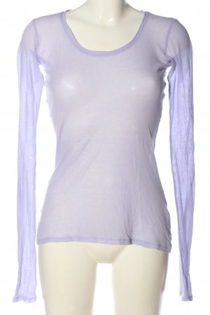 American Vintage Top à manches longues violet style décontracté