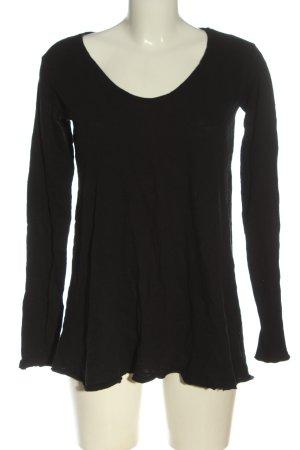 American Vintage Koszulka z długim rękawem czarny W stylu casual