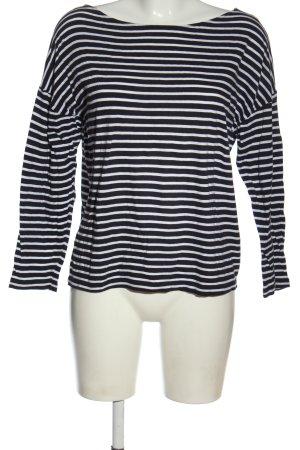 American Vintage Longesleeve zwart-wit gestreept patroon casual uitstraling
