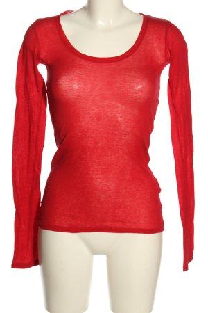 American Vintage Top à manches longues rouge style décontracté
