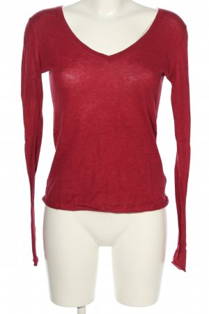 American Vintage Manica lunga rosso stile casual