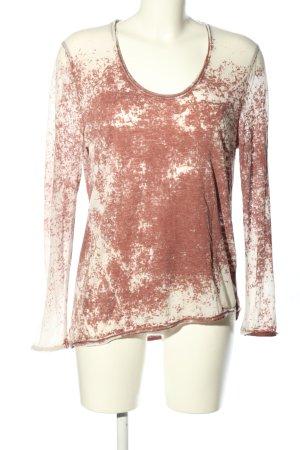 American Vintage Koszulka z długim rękawem różowy-w kolorze białej wełny