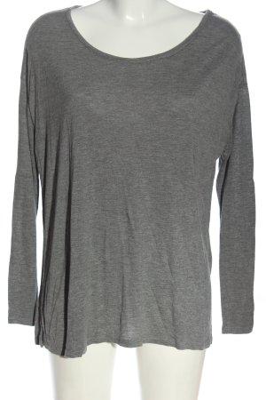 American Vintage Longsleeve light grey flecked casual look