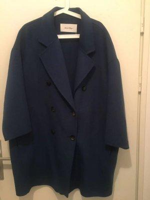 American Vintage Manteau en laine bleu foncé laine