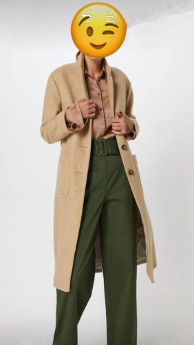 American Vintage Between-Seasons-Coat multicolored