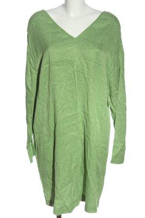 American Vintage Mini vestido verde-blanco estampado a lunares look casual