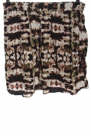 American Vintage Miniskirt brown-natural white allover print casual look