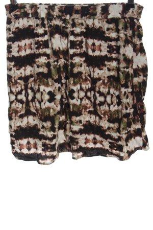 American Vintage Mini rok bruin-wolwit volledige print casual uitstraling