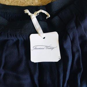American Vintage Spodnie z zakładkami ciemnoniebieski