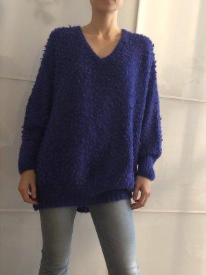 American Vintage Grof gebreide trui blauw