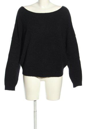 American Vintage Oversized Pullover schwarz Casual-Look