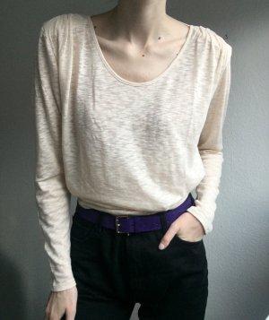 American Vintage Kraagloze sweater licht beige