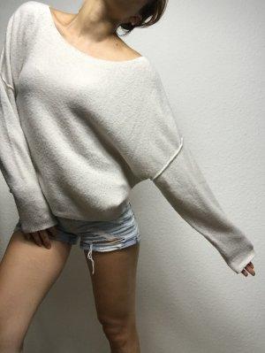 American Vintage Sweter oversize biały
