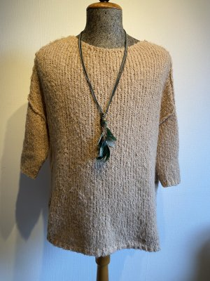 American Vintage Coarse Knitted Sweater beige-camel