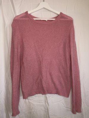 American Vintage Kraagloze sweater roze