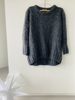 American Vintage Wełniany sweter ciemnoszary