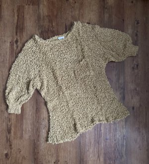 American Vintage Short Sleeve Sweater sand brown-camel