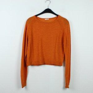 American Vintage Crewneck Sweater dark orange alpaca wool