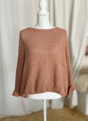 American Vintage Pullover Sweater Grobstrick Strickpullover rosabraun XS S