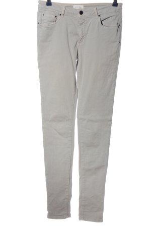 American Vintage Spodnie rurki jasnoszary W stylu casual