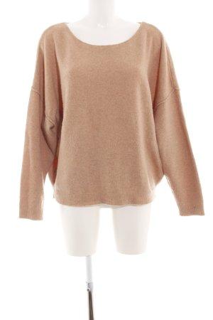 American Vintage Kraagloze sweater bruin casual uitstraling