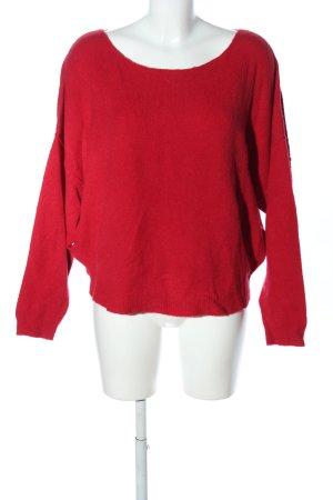 American Vintage Kraagloze sweater rood casual uitstraling