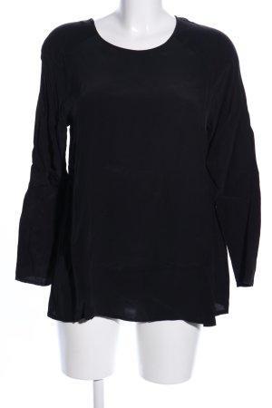 American Vintage Schlupf-Bluse schwarz Casual-Look