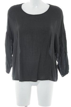 American Vintage Schlupf-Bluse schwarz schlichter Stil